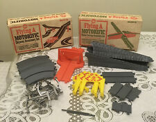 Vintage 1965 Ideal Motorific Track Accessory Sets Mark 2 & 3 Skyway & Power