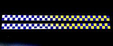 Self Adhesive Reflective Battenberg Side Reflectors 50x1000mm Decal Blue/Yellow