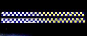 Self Adhesive Reflective Battenberg Side Reflectors 50x1000mm Decal Blue/Yellow