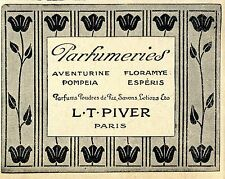 Parfumeries L.T.Piver Paris  Historische Annonce 1913