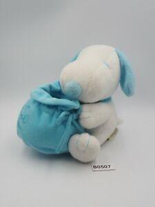 "Snoopy Peanuts Blue B0507 Bag United Feature Plush 5"" Stuffed Toy Doll Japan"