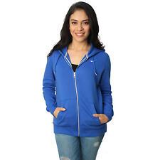 S AUTHENTIC Nike Women's Blue Classic Jersey Pullover Fleece Full Zip Hoodie