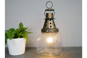 Industrial Style Bulb Table Lantern Lamp Decoration | Battery Operated No Cables