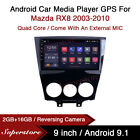 9  Android 10.1 Car Stereo Media Player GPS Head Unit For Mazda RX8 2003-2010