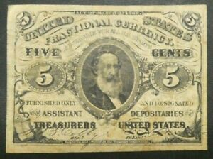 1863 %C Five Cents Fractional Currency