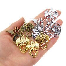 Random 11 pcs Metal Flying Dragon Craft Charms Pendants DIY Jewellery Making