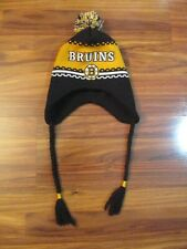 Old Time Hockey Boston Bruins Youth Winter Hat w/ Ear Flaps & Ties