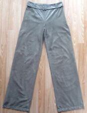NWT M&S PER UNA Faux Suede Wide Leg Trousers Size 8 Long Pale Khaki NWT