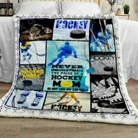 Hockey Never Underestimate The Pride Of A Hockey Mom Fleece Blanket 50x60x80