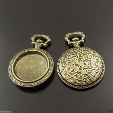 2pcs Antique Bronze Tone Pocket Watch Charms Pendant 38*27*5mm 38015
