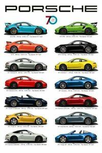 Porsche 70 Year Anniversary 1948-2018 Poster 13x19 Art Print High Res B2G1 Free