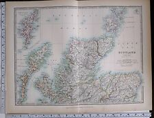1903 LARGE MAP SCOTLAND NORTH CAITHNESS SUTHERLAND ISLE OF SKYE ABERDEEN ELGIN