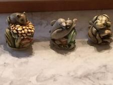 Vtg Harmony Kingdom 3 Treasures Frog Mice Dolphins Millenium Club Kit No Box