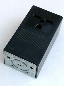 Leviton 5376 Grounding Surface Mount Receptacle 30A 250V 2-Pole 3-Wire