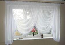 AG4 Rideau prêt à poser en voile design beau moderne blanc fenêtre