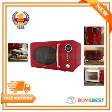 Akai Pull Handle Retro Digital Microwave, 5 Power Levels, 700W 20L Red A24006R
