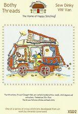 Bothy threads coudre dinky VW Van Compté Cross Stitch Kit 20x15cm nouveau mai 2014