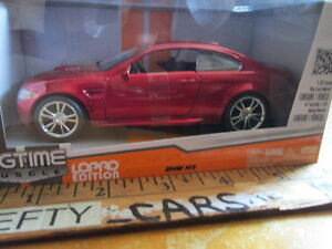 BIGTIME MUSCLE BMW M3 CANDY APPLE RED Sports Car (LOPRO EDITION) SCALE 1:32 NEW!