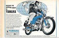 1966 Yamaha Motorcycles Twin Jet 100 Discover The Swinging World of Yamaha Ad
