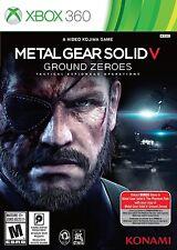 NEW Metal Gear Solid V 5: Ground Zeroes  (Microsoft Xbox 360, 2014)