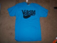 NEW VOLCOM T SHIRT short sleeve turquoise blue skate surf SZ SMALL S Stone