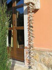 Girlande Windspiel 1,30m Treibholz Holz Stein natur Shabby chic Deko Garten