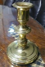 "Baldwin solid brass candlestick holder 5"" tall"