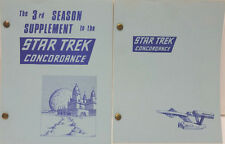 1969/1973 Star Trek Concordance 2 Volume Set- Early Fan Reference Book (E1139)