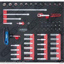 """SCS 1/4"""" Set de llaves de conexión, 61 pcs. in 2/3 Sistema de REPUESTOS 712.0061"""