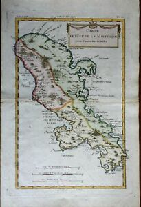 Martinique Windward Isles Lesser Antilles 1780 Bonne map