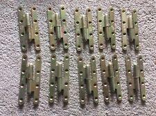 Lot 10 Ancienne paumelles acier roulé droite 140/55 Loutre Sedan (Hinges)