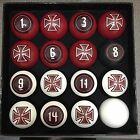 Billiard Ball Set - Pool Balls - IRON CROSS - FINEST BILLARD BALLS - VIGMA NEW