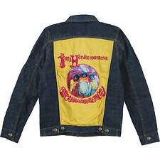 JIMI HENDRIX OFFICIALLY LICENSED DENIM HUGE PATCH JACKET ADULT LG ARE YOU EXPERI