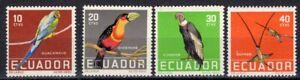 ECUADOR 1958 STAMP Sc. # 634/7 MNH BIRDS