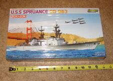 NEW DRAGON PREMIUM ED 1/700 USS SPRUANCE DD-963 Modern Anti-Submarine Destroyer