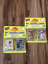 (2) SCORE 1990 FOOTBALL 101 Hot Card PACKS Barry Sanders Bo Jackson