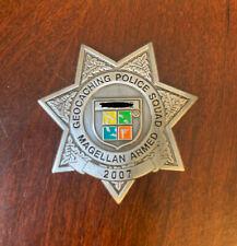 2007 Geocaching Police Squad Magellan Armed Geocoin - Unactiviated