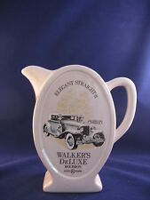 """PITCHER WALKER'S DELUXE BOURBON 1931 CORD VINTAGE AD ITEM 8""""TALL 32 OZ. RARE"""