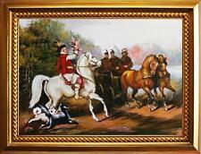 Barocke künstlerische Öl-Malerei mit Landschafts- & Stadt-Motiv