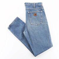 Vintage CARHARTT  Blue Denim Regular Straight Jeans Mens W34 L34