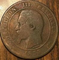 1855 D FRANCE 10 CENTIMES NAPOLEON III EMPIRE FRANÇAIS