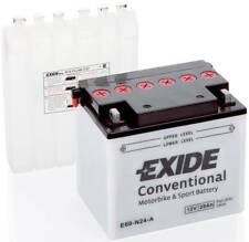 Batterie Moto Exide Y60-N24-A E60-N24-A 12V 28AH 300A 185X125X175 ACIDE COMPRIS