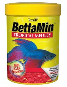 Tetra BettaMin Flakes Medley .81oz Free Shipping