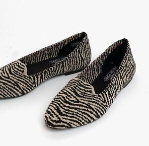 Skechers CLEO KNITTY KITTY Ladies Womens Casual Slip On Shoes Natural Black