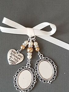 """Wedding Bouquet Photo Charm Double Locket with """"always in my heart"""" charm"""
