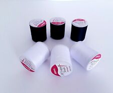 Black White Polyester Sewing Thread Spool Lot All Purpose Sewing Thread
