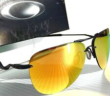 NEW* OAKLEY TAILPIN Aviator Matte BLACK w FIRE Iridium lens Sunglass 4086