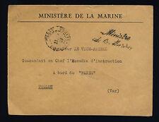 """FRANCE 1939 """"Ministère de la Marine"""" /LSC FM À TOULON (CROISEUR PARIS) (F-N295)"""