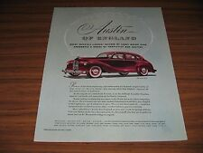 """1948 Print Ad Austin of England Motor Cars """"The Devin"""" 4-Door Red"""