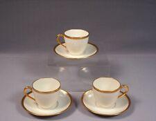 LIMOGES France B&C Bernardaud GOLD Coffee Espresso cup Saucer set EXCELLENT